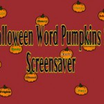 Halloween Word Pumpkins Screensavers