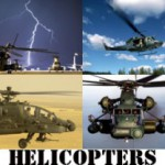 Military Helicopters Screen Saver