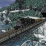 Train Ride Through The Winter Mountains Screensaver