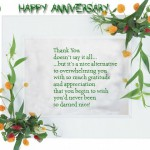 Thank You Anniversary Greetings