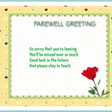 Farewell greetings collections farewell greetings m4hsunfo