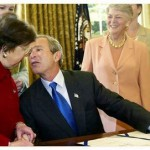 George Bush  Funny Kissing Pictures