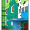 Multicolored Building Art Pictures